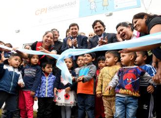 Sáenz: «Habilitamos el Centro de Primera Infancia de Solidaridad donde más de 80 chicos podrán formarse para tener un futuro mejor»