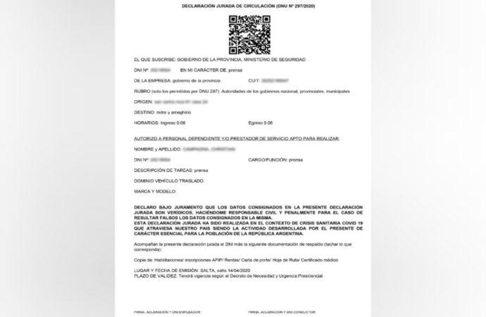 Desde el lunes habrá un nuevo y único permiso de circulación emitido por el Gobierno de la Provincia