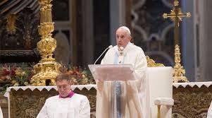 El Papa Francisco celebró la misa