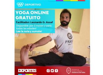 Deportes brindará clases virtuales de Yoga y Tachi