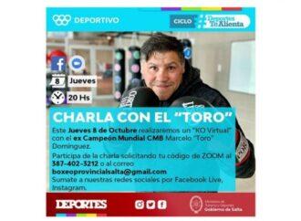 """""""KO Virtual"""": Charlas motivacionales de boxeo para Salta"""