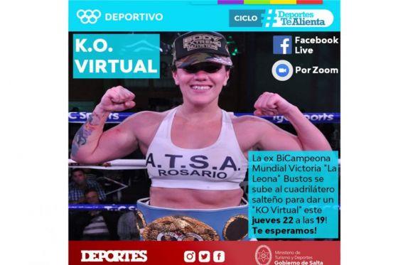"""Este jueves el """"KO Virtual"""" será de la ex bicampeona mundial Victoria """"La Leona"""" Bustos"""