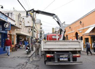 Operativo: despeje de cables en Alvarado